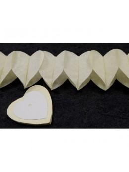 Guirlande coeur ivoire