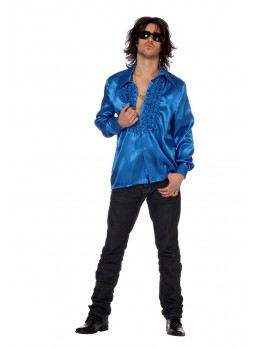 Déguisement Chemise disco Turquoise