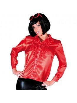 Déguisement chemise disco femme rouge