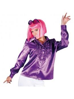 Déguisement chemise disco femme violette