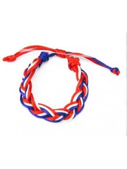 Bracelet tressé supporter France
