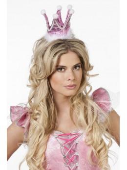 Couronne princesse tissu rose