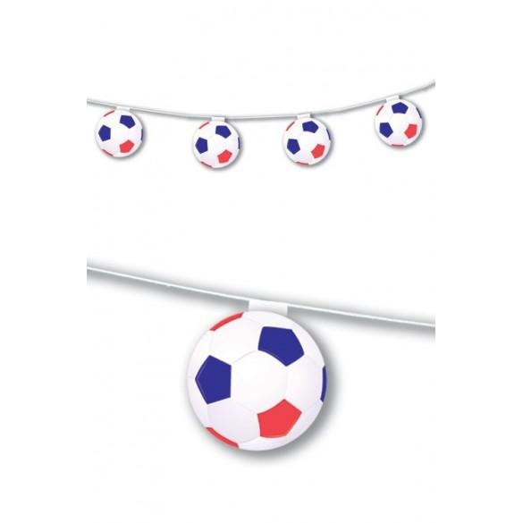 Guirlande ballons football tricolores 3m20