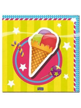 serviettes thème sucreries