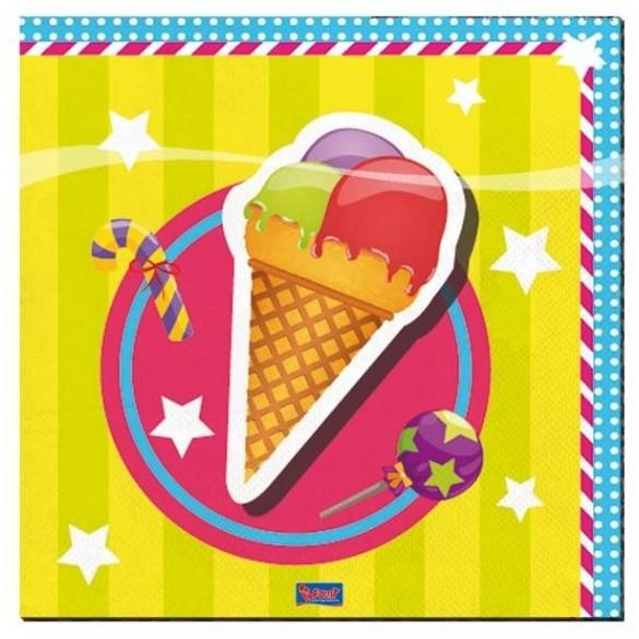 20 Serviettes de fête cupcake