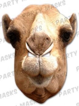 Masque carton chameau