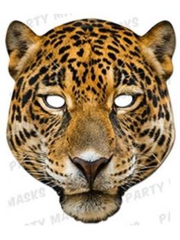 Masque carton léopard
