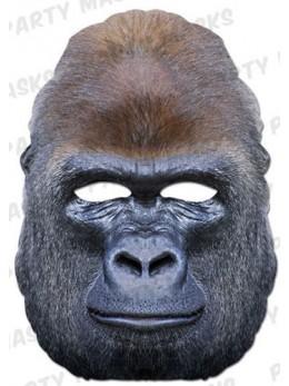 Masque carton gorille