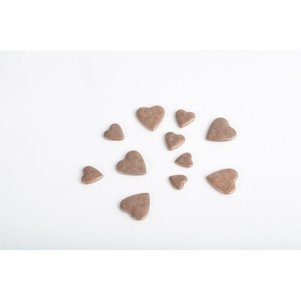 Coeurs 3D chocolat