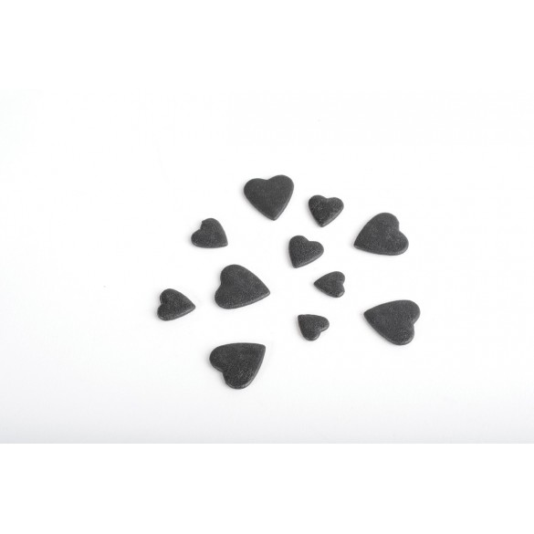 Coeurs 3D noir