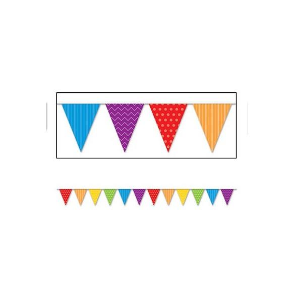 Guirlande fanions motifs multicolore