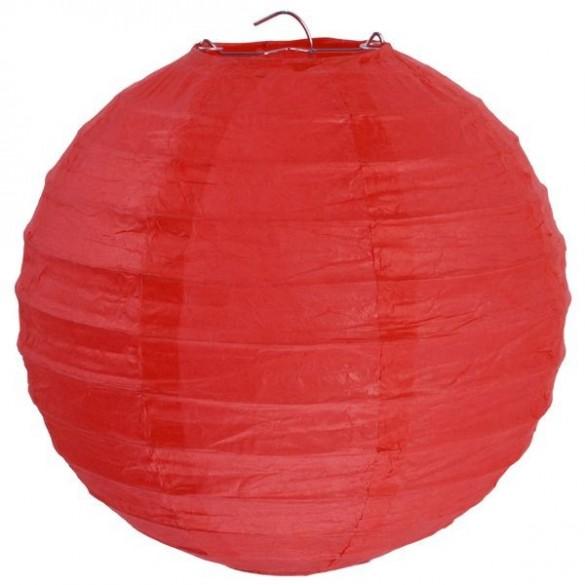 Lampion ballon géant rouge