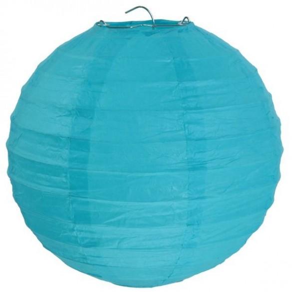Lampion ballon géant turquoise