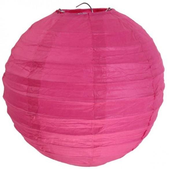 Lampion ballon géant fuchsia