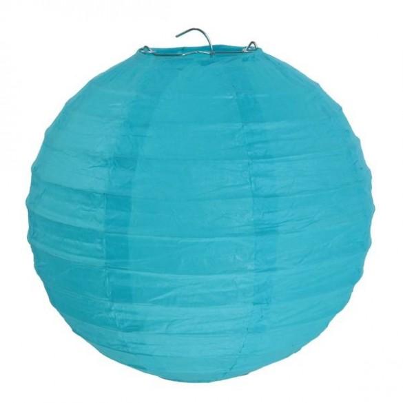 2 Lampions ballons turquoise
