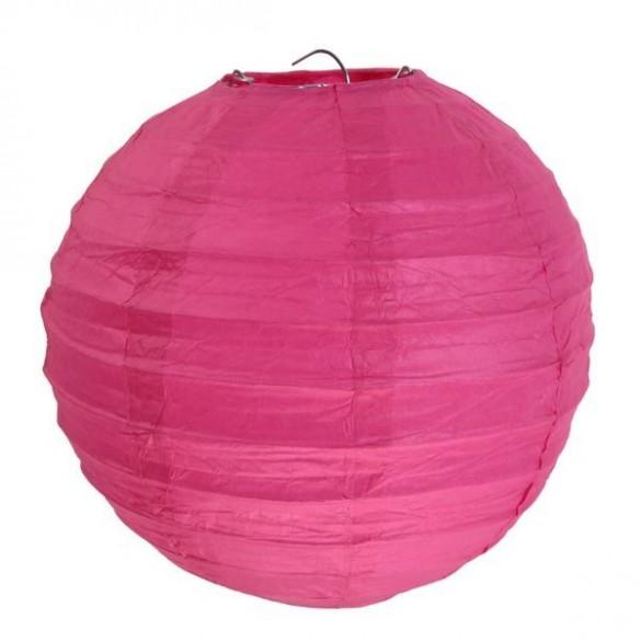2 Lampions ballons fuchsia