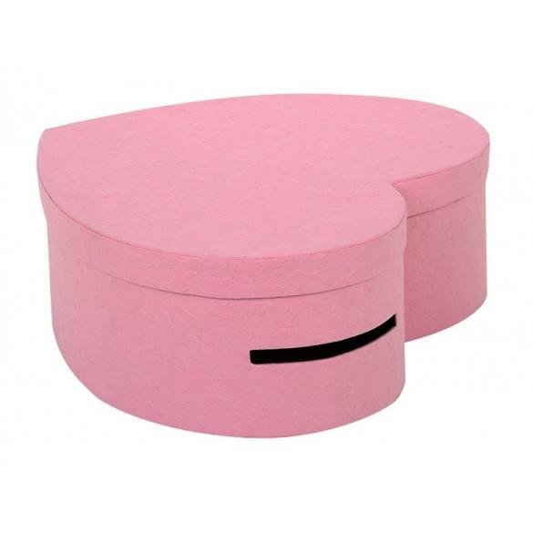 Grande urne coeur rose pale