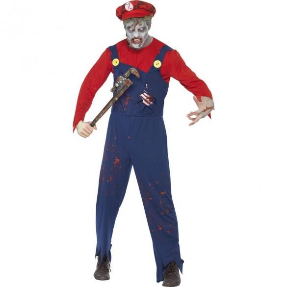 Déguisement plombier Zombie