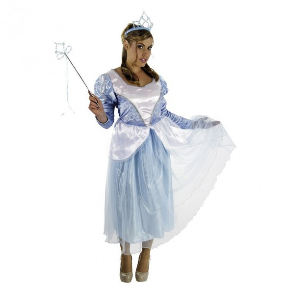 Déguisement princesse bleue