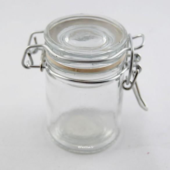 Pot à dragées confiturier transparent