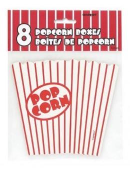 8 boîtes popcorn