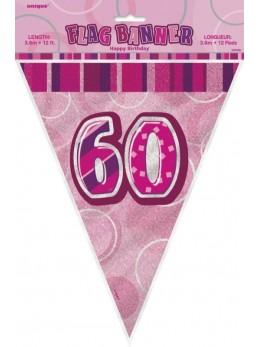 Guirlande 60 ans rose