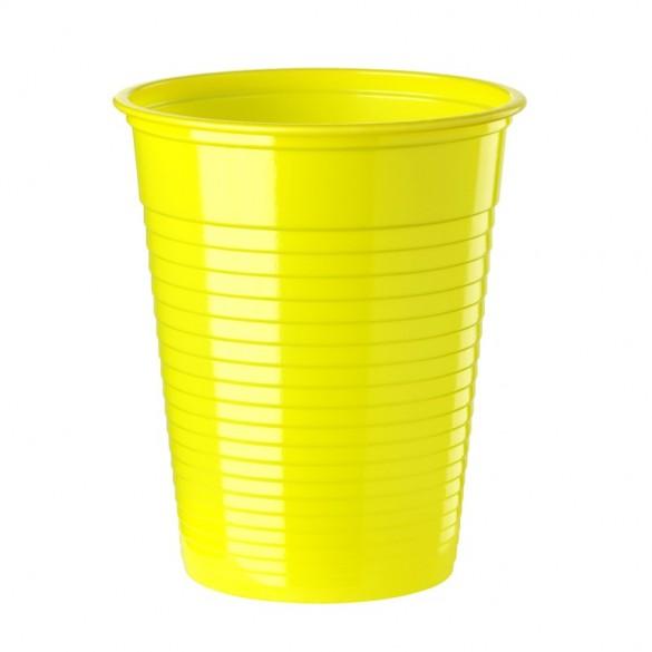 50 gobelets 20cl jaune