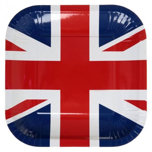 10 Assiettes Angleterre 23cm