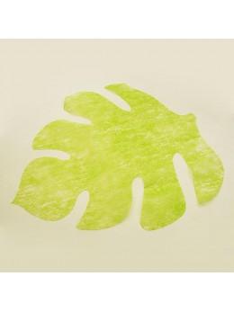 set de table feuilles vert