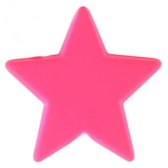12 mini étoiles fluo fuchsia