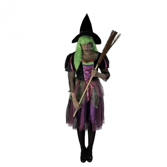 Déguisement sorcière multicolore