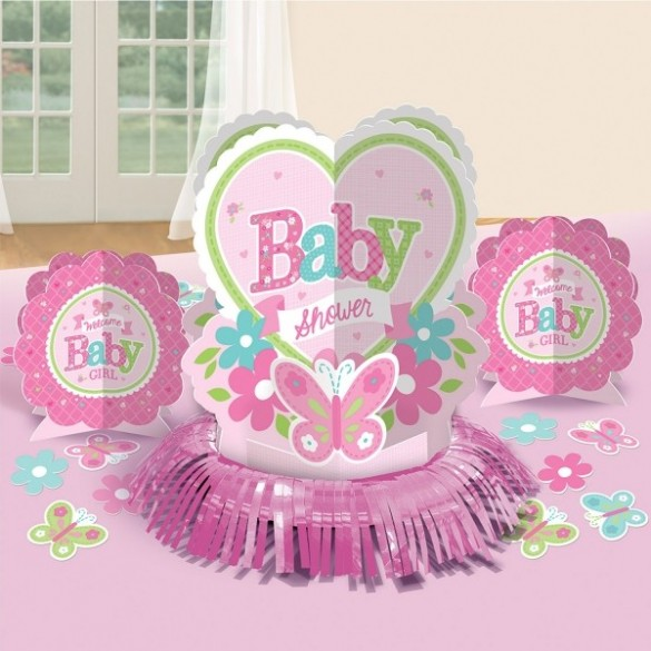 Kit déco de table baby shower fille