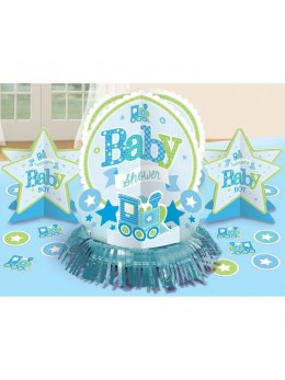 Kit déco de table baby shower garçon
