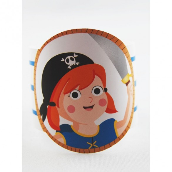Rond de serviette pirate fille