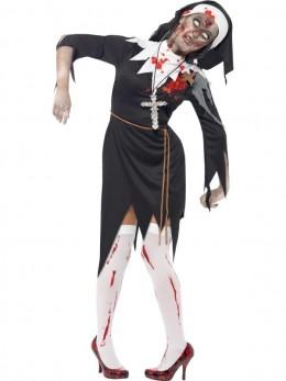 déguisement bonne soeur zombie