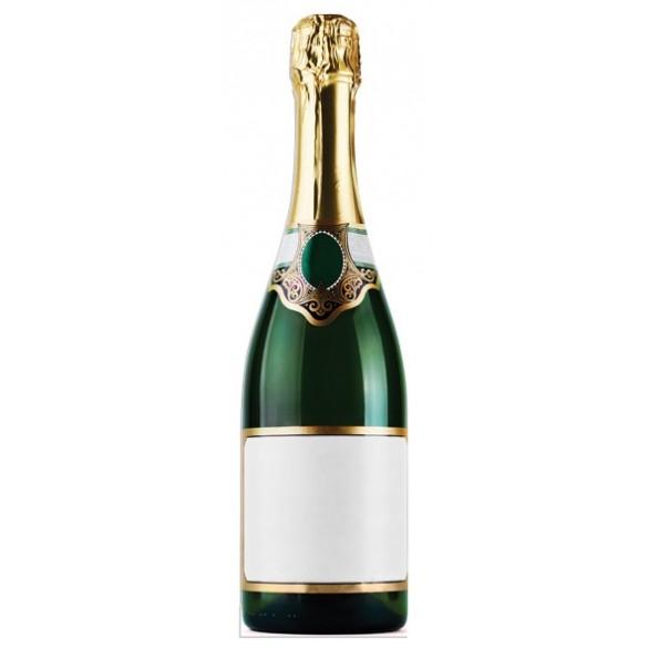 Figurine géante carton bouteille de champagne