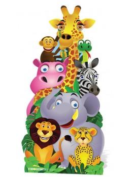 FIgurine géante animaux de la jungle