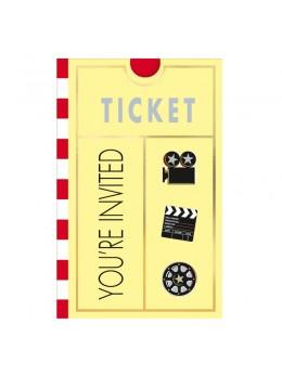 invitations thème cinéma