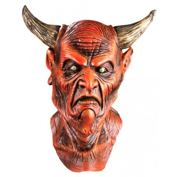 Masque latex adulte de Diable