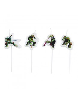 Lot de 4 bougies Tortues Ninja