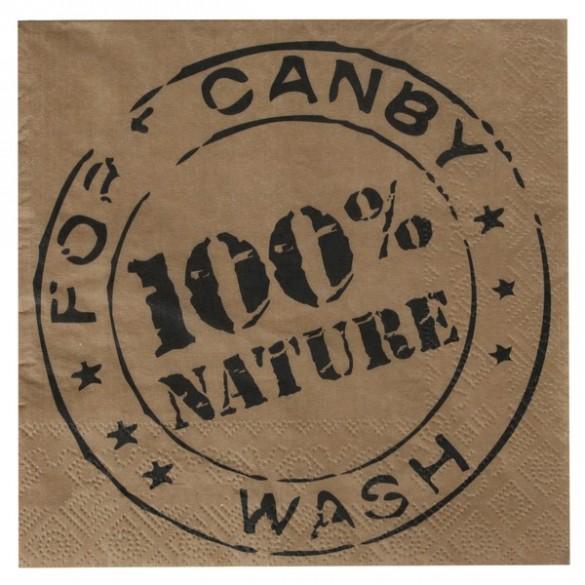 20 serviettes 100% Nature