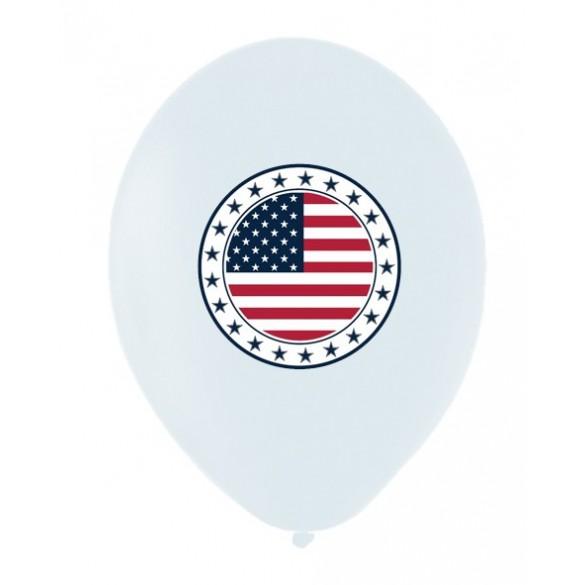 10 Ballons USA 30cm