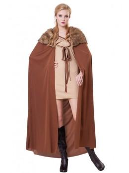 Déguisement cape fourrure brun
