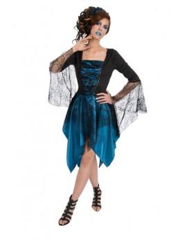 Déguisement gothic bleu