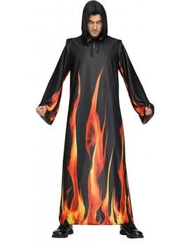 Déguisement tunique diable flammes