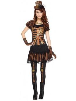 Déguisement sexy squelette steampunk