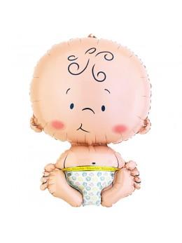 ballon alu bienvenue au bébé