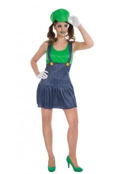 Déguisement plombier femme vert