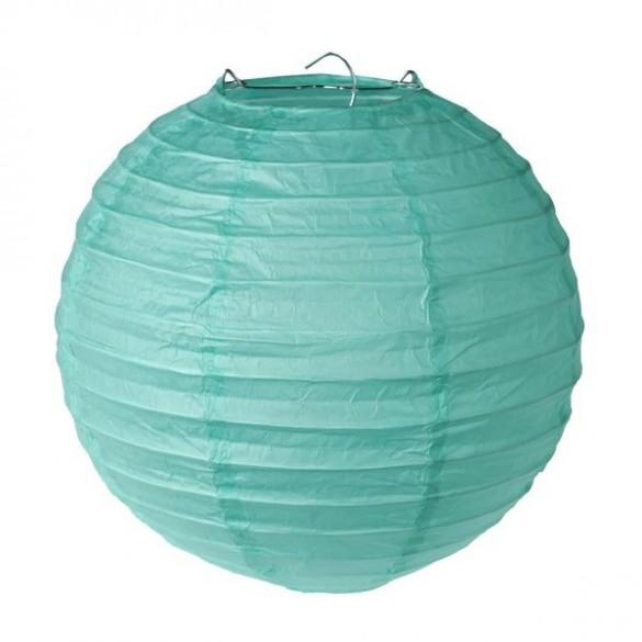 2 Lampions ballons vert menthe