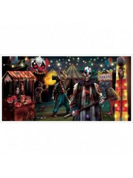 déco bannière Halloween cirque sinistre